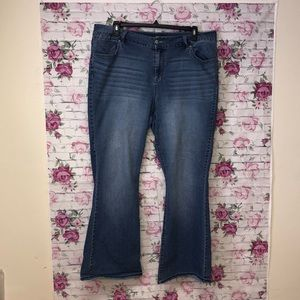 Lane Bryant 20 average flare leg jeans